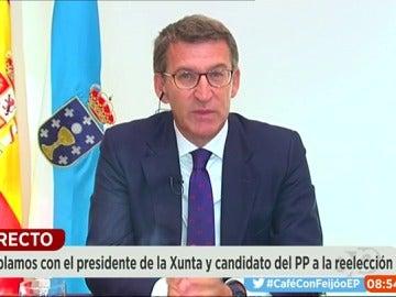 Alberto Núñez Feijóo, durante una entrevista en Espejo Público