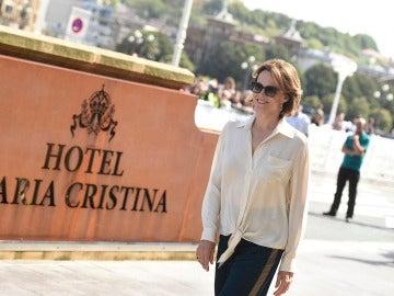 Sigourney Weaver, a su llegada al Festival de San Sebastián