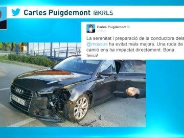 Frame 3.435878 de: Carles Puigdemont sufre un accidente de tráfico