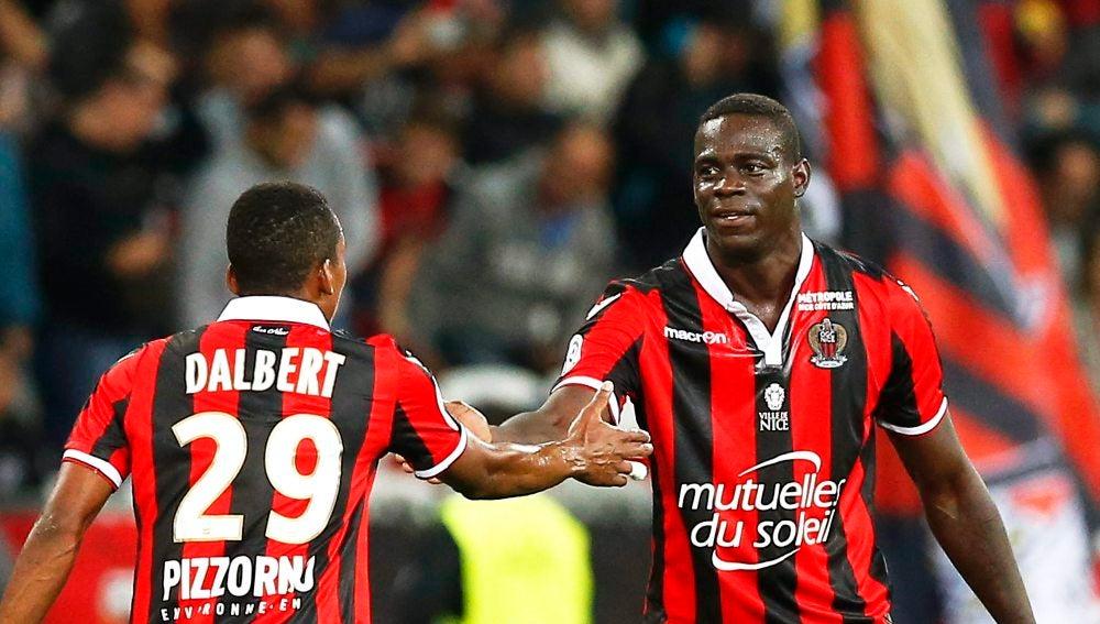 Balotelli, en el partido con el Niza
