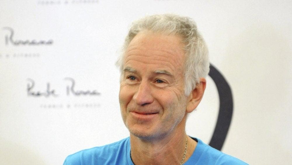 El extenista John McEnroe que participa en un torneo de veteranos en Málaga
