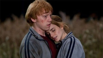 Ron y Hermione en 'Harry Potter'