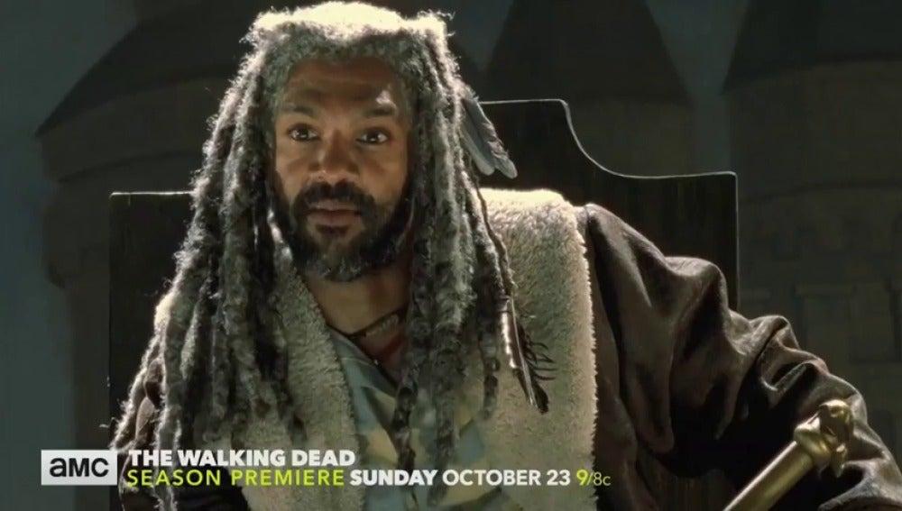 Frame 9.36177 de: El Rey Ezekiel protagoniza el avance de 'The Walking Dead'