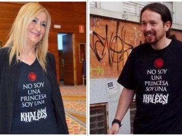 Cristina Cifuentes y Pablo Iglesias
