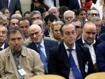 El juicio contra los contra los expresidentes de Caja Madrid Miguel Blesa y Rodrigo Rato y otros 63 usuarios de las 'tarjetas black' de Caja Madrid
