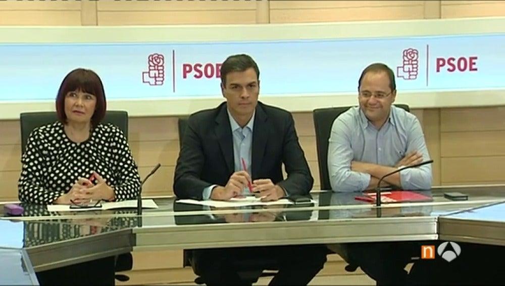 Frame 66.621953 de: Sánchez anuncia a su dirección que quiere convocar ya el Congreso Federal y primarias en octubre