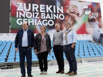 El lehendakari en funciones, Iñigo Urkullu, y el presidente del PNV, Andoni Ortuzar