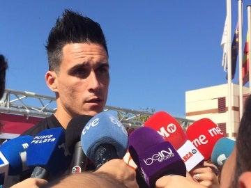 José Callejón atiende a los medios en Las Rozas