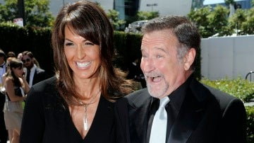Susan Schneider y Robin Williams