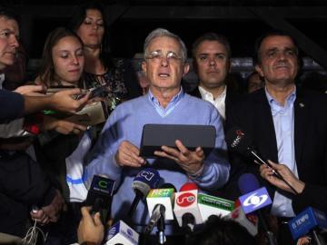 El expresidente y senador colombiano, Álvaro Uribe Vélez.