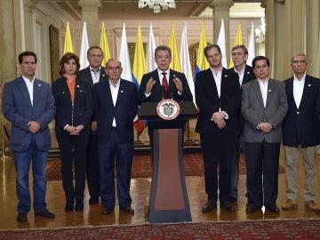Juan Manuel Santos tras conocer el 'no' en el plebiscito