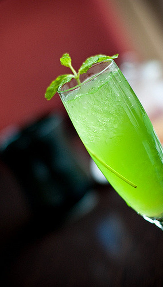 Peppermint Frappé, todo en verde.