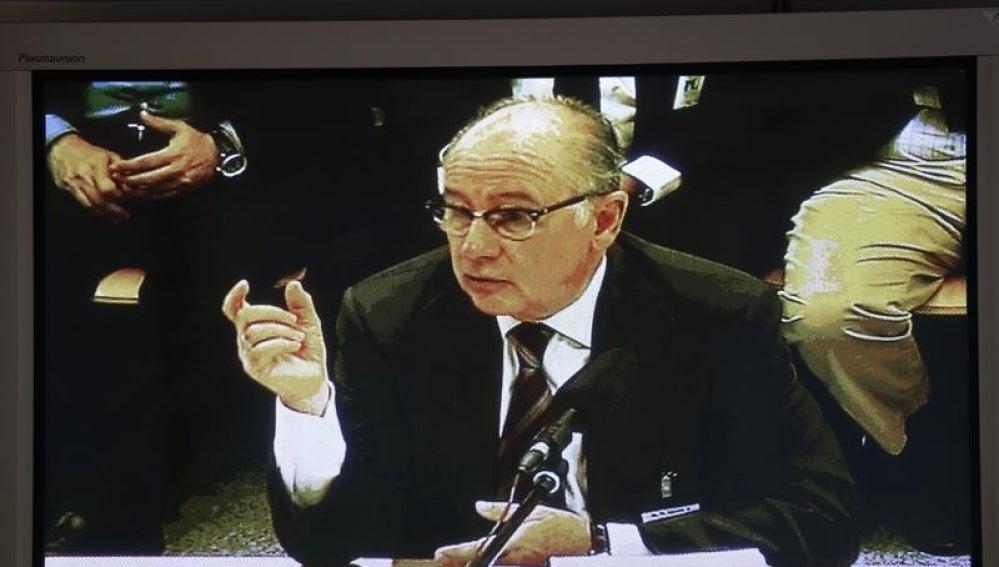 Rodrigo Rato durante su declaración por las 'tarjetas black'