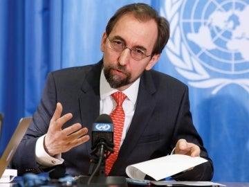 """El alto comisionado de la ONU para los derechos humanos, Zeid Ra""""ad al Hussein"""