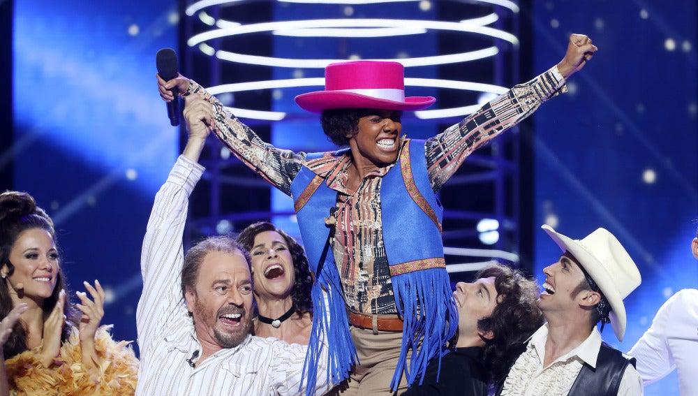 Beatriz Luengo gana la primera gala de 'Tu cara me suena'