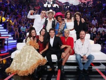 Los concursantes de la quinta edición de 'Tu cara me suena 5' en la primera gala