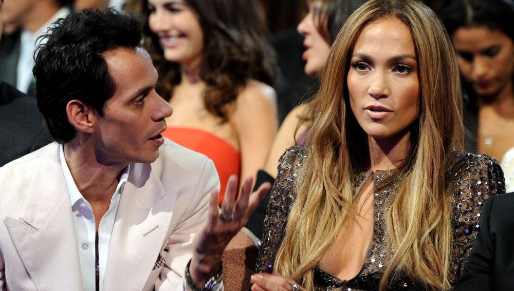 Marc Anthony y Jennifer López en los Grammy Latinos