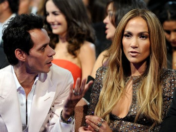 Marc Anthony y Jennifer López en los Grammy Latinos