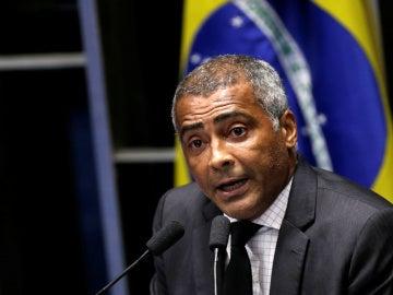 El exfutbolista Romario, durante una sesión del Congreso brasileño como senador
