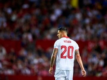 Vitolo, durante un partido con el Sevilla