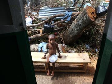 Destrozos provocados por el huracán Matthew en Haití