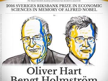 El británico Oliver Hart y el finlandés Bengt Holmström