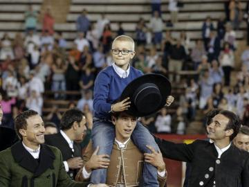 Adrián, en la plaza de toros de Valencia
