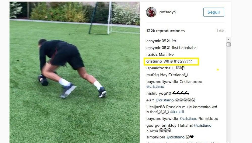 Cristiano 'trolea' a Rio Ferdinand en Instagram