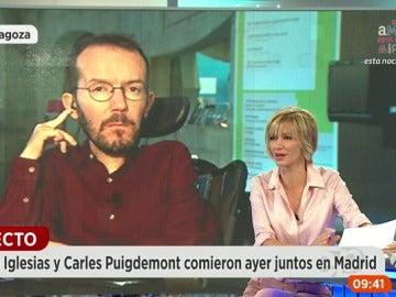 """Frame 220.924893 de: Echenique: """"El giro de la abstención tiene que ser muy traumático para el PSOE"""""""