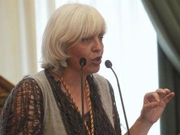 La alcaldesa de Badalona, Dolors Sabater