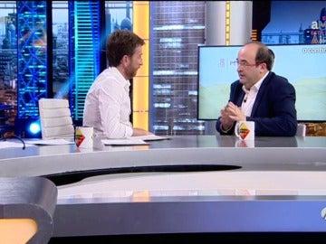 """Frame 72.461963 de: Pablo Motos a Miquel Iceta: """"Se ha suicidado el PSOE"""""""