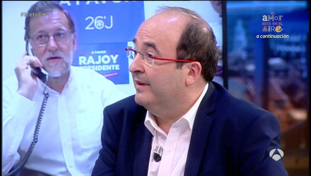 """Frame 104.829249 de: Miquel Iceta: """"Rajoy es un grande de España"""""""