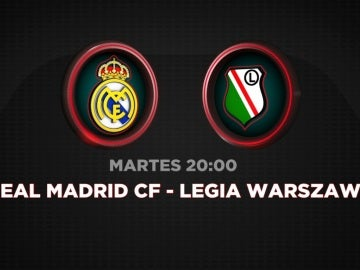 Real Madrid - Legia, martes 18 en Antena 3 y Atresplayer