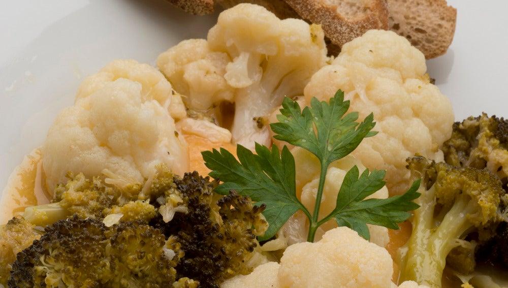 Coliflor y brócoli en escabeche.