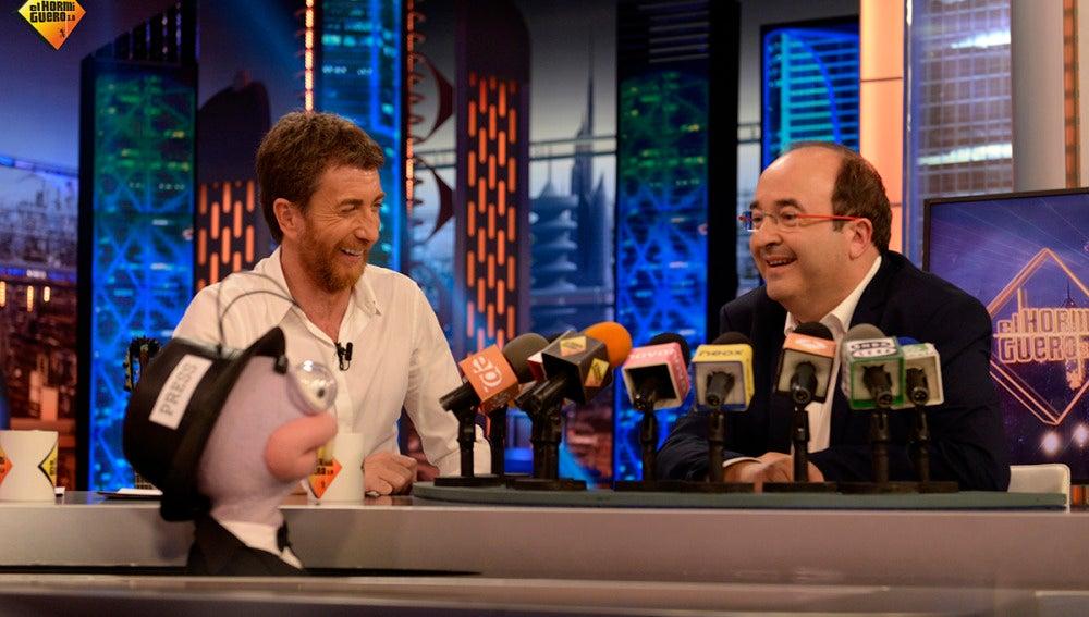 Miquel Iceta en la rueda de prensa Ibérica de Trancas y Barrancas