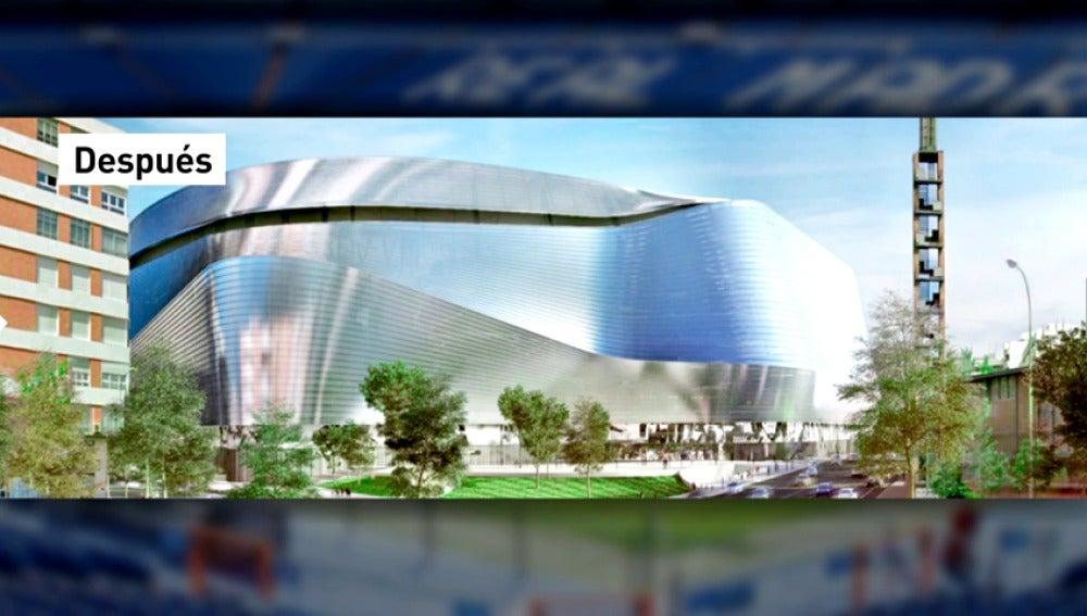 Frame 3.438139 de: Así será el nuevo estadio Santiago Bernabéu: nueva fachada, techo retráctil y sin hotel de lujo