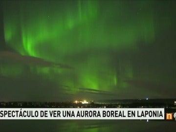 Una aurora boreal en Laponia