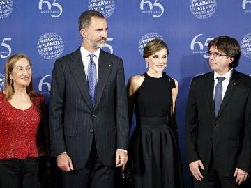 Los Reyes, en la entrega del Premio Planeta