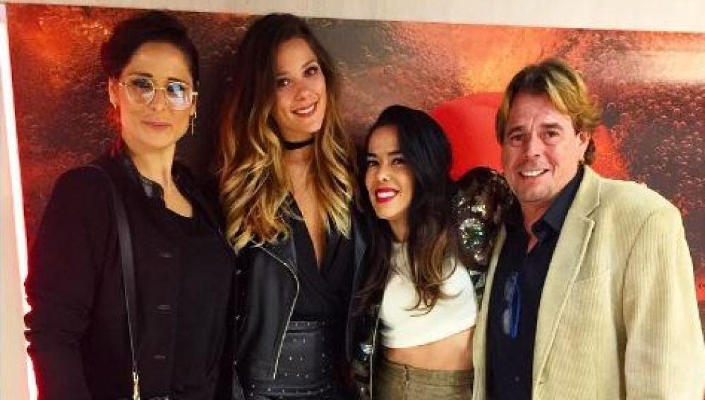 Rosa López, Juan Muñoz, Beatriz Luengo y Lorena Gómez asisten al concierto de despedida de Auryn para apoyar a su compañero Blas Cantó
