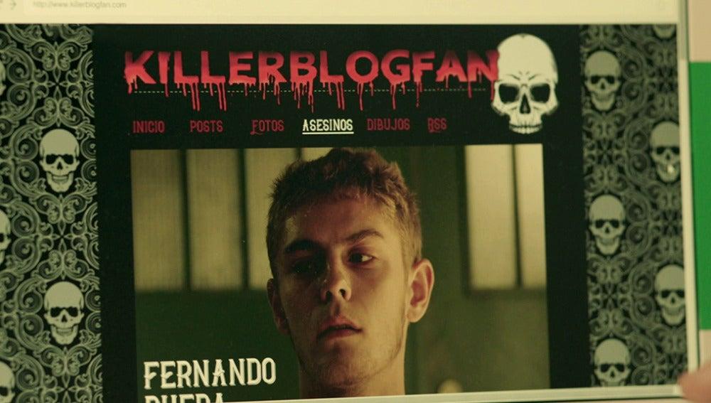 ¿Quién escribe el macabro blog sobre asesinatos en el que aparece Fernando?