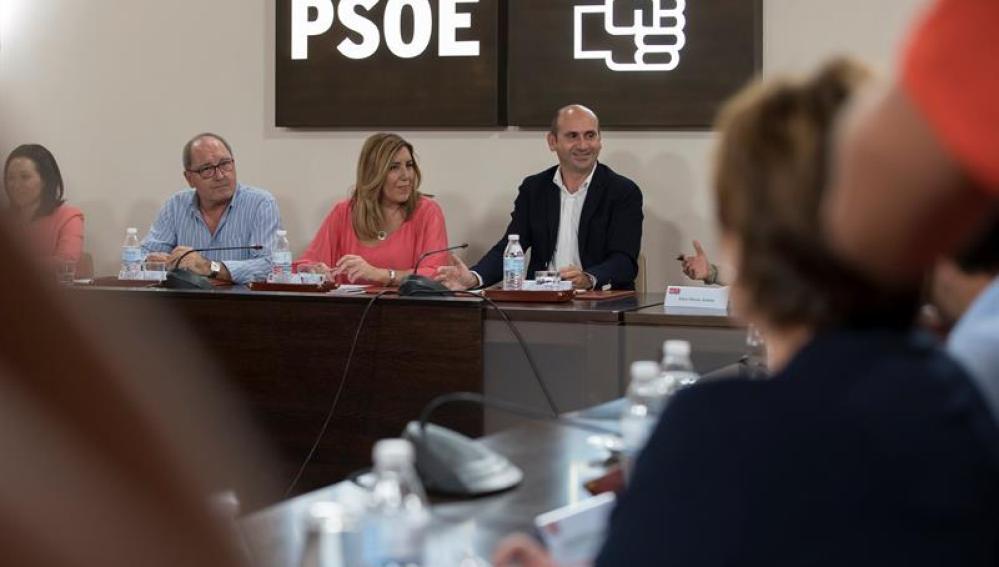 Susana Díaz junto a Juan Cornejo en la Comisión Ejecutiva Regional