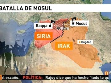 """Frame 55.264321 de: El presidente de Irak asegura que la liberación de Mosul es """"inminente"""""""
