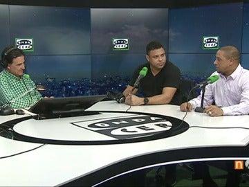 """Frame 0.0 de: Ronaldo y su broma a Florentino: """"Si tuviera la mujer que tiene Figo, estaría más en casa"""""""