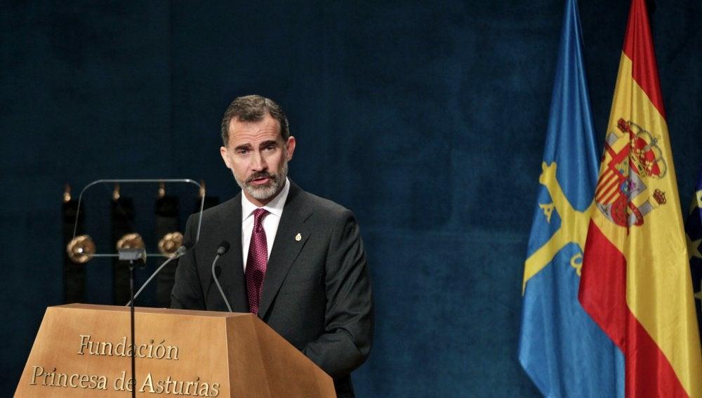 El Rey pronuncia el discurso en los Princesa de Asturias