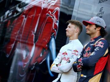 Kvyat y Sainz, juntos en Toro Rosso