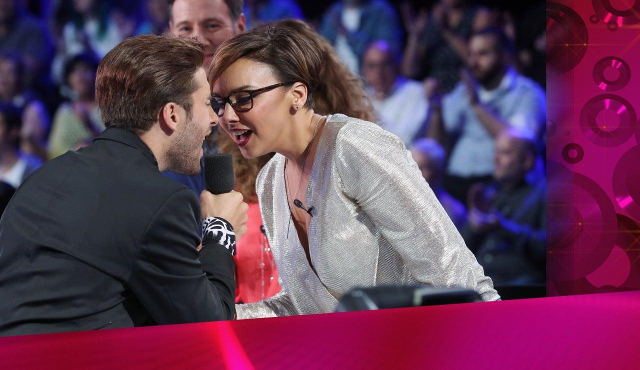 Blas Cantó se acerca a Chenoa en su actuación como Justin Timberlake