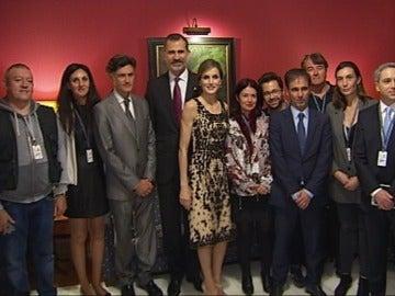 Los Reyes con el equipo de A3 Noticias