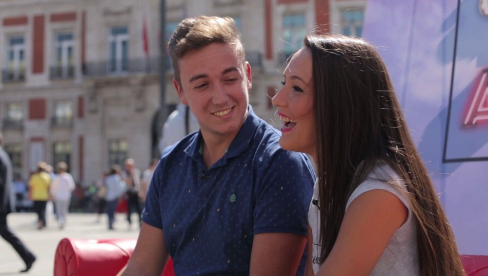 Borja y Tania en 'El amor está en la calle'