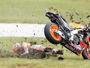 Caída de Marc Márquez en el MotoGP de Australia