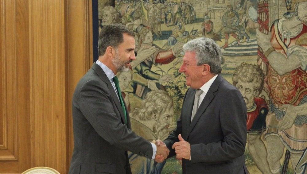 El representante de Nueva Canarias, Pedro Quevedo, primero en reunirse con Felipe VI en la nueva ronda de consultas